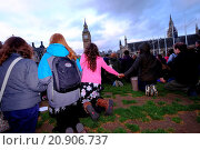 Купить «Christians gathered in Parliament square to pray for the election, people of Britain and government Featuring: Atmosphere Where: London, United Kingdom When: 06 May 2015 Credit: WENN.com», фото № 20906737, снято 6 мая 2015 г. (c) age Fotostock / Фотобанк Лори
