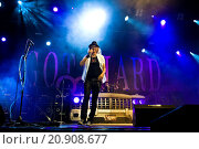 Купить «01. 08. 2015, Switzerland, Tenero, Gotthard band in concert.», фото № 20908677, снято 1 августа 2015 г. (c) age Fotostock / Фотобанк Лори