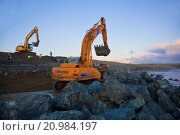 Купить «Constructing Sea Defenses,.», фото № 20984197, снято 16 ноября 2006 г. (c) age Fotostock / Фотобанк Лори