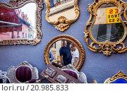 Купить «Rastro flea market. Madrid, Spain.», фото № 20985833, снято 15 июля 2020 г. (c) age Fotostock / Фотобанк Лори