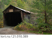 Купить «Old Oregon Covered Wooden Bridge, near North San Juan, California.», фото № 21010389, снято 9 ноября 2009 г. (c) age Fotostock / Фотобанк Лори