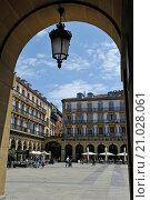 Купить «Plaza de la Constitucion, Old Town, San Sebastian, Bay of Biscay, province of Gipuzkoa, Basque Country, Spain, Europe.», фото № 21028061, снято 1 июня 2015 г. (c) age Fotostock / Фотобанк Лори