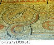 Купить «Detail of ancient mosaics, Chersonesus Taurica, Se», фото № 21030513, снято 25 апреля 2018 г. (c) age Fotostock / Фотобанк Лори