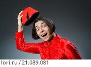 Купить «Man wearing red fez hat», фото № 21089081, снято 30 сентября 2015 г. (c) Elnur / Фотобанк Лори