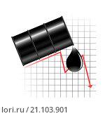 Нефть падает. Стоковая иллюстрация, иллюстратор Фёдор Мешков / Фотобанк Лори