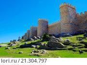 Купить «Avila Spain Medieval Walls and Towers.», фото № 21304797, снято 22 сентября 2015 г. (c) age Fotostock / Фотобанк Лори