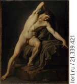 Study of a Virile Nude (Accademia di nudo virile), by unknown artist, 19th Century, oil on canvas, 73 x 60 cm. Редакционное фото, фотограф Alessandro Vasari / age Fotostock / Фотобанк Лори