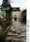 Купить «Shanxi Province, China. The view of Niangziguan, a important gate of Great Wall, in Shanxi province.», фото № 21392501, снято 30 апреля 2013 г. (c) age Fotostock / Фотобанк Лори