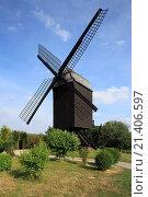 Купить «Goat's windmill in Kempen-Tönisberg, Lower Rhine, North Rhine-Westphalia», фото № 21406597, снято 7 декабря 2015 г. (c) age Fotostock / Фотобанк Лори