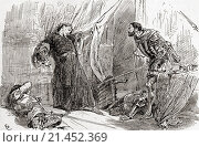"""A scene from William Shakespeare´s play King Richard II, Act V, scene 5. King Richard: """"Exton, thy fierce hand hath with the king´s blood stain´d the king... Редакционное фото, фотограф Classic Vision / age Fotostock / Фотобанк Лори"""