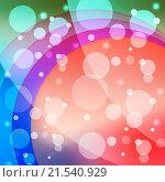 Купить «Bubbles And Arcs Background Meaning Dots And Curves», фото № 21540929, снято 31 января 2014 г. (c) easy Fotostock / Фотобанк Лори