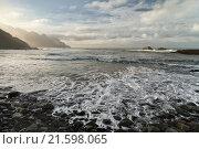 Тенерифе. Вулкан Тейде и побережие острова. Стоковое фото, фотограф Минаева Вера / Фотобанк Лори