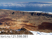 Тенерифе. Вулкан Тейде и побережье острова. Стоковое фото, фотограф Минаева Вера / Фотобанк Лори