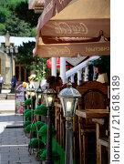 Летнее кафе в г.Кисловодске (2013 год). Редакционное фото, фотограф Игорь Ясинский / Фотобанк Лори