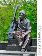Monument of Vladimir Vysotsky. Kaliningrad, Russia. Редакционное фото, фотограф Zoonar/Sergei Trofim / easy Fotostock / Фотобанк Лори