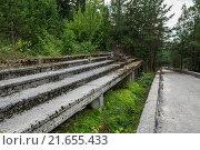damaged Olympic Bobsleigh and Luge Track in Sarajevo. Стоковое фото, фотограф Konrad Zelazowski / easy Fotostock / Фотобанк Лори