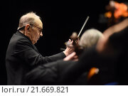 Berlin, Germany, Ennio Morricone, composer and conductor, live in concert (2015 год). Редакционное фото, агентство Caro Photoagency / Фотобанк Лори