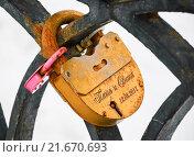 Купить «Навесные замки влюбленных», эксклюзивное фото № 21670693, снято 3 марта 2012 г. (c) Алёшина Оксана / Фотобанк Лори