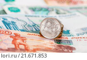 Купить «Russian currency, rouble: banknotes and coins close up», фото № 21671853, снято 10 июля 2019 г. (c) FotograFF / Фотобанк Лори