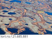 Купить «Aerial photos of arctic tundra wetlands», фото № 21685881, снято 26 сентября 2015 г. (c) Владимир Мельников / Фотобанк Лори