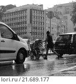 Купить «Брюссельский дождь», фото № 21689177, снято 24 августа 2015 г. (c) Эдуард Цветков / Фотобанк Лори