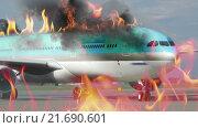 Купить «Engine fighting the airplane fire», видеоролик № 21690601, снято 11 октября 2015 г. (c) Данил Руденко / Фотобанк Лори