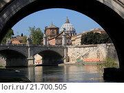 Купить «Италия. Прекрасный вид на город Рим весной», фото № 21700505, снято 20 апреля 2015 г. (c) Яна Королёва / Фотобанк Лори