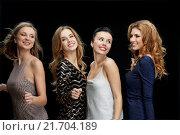 Купить «happy young women dancing at night club disco», фото № 21704189, снято 21 ноября 2015 г. (c) Syda Productions / Фотобанк Лори