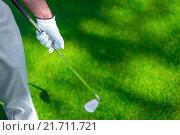 Купить «Playing golf», фото № 21711721, снято 24 августа 2015 г. (c) Raev Denis / Фотобанк Лори