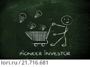 Купить «investor capitalist, selecting ideas and start-ups to invest on», фото № 21716681, снято 11 декабря 2017 г. (c) PantherMedia / Фотобанк Лори