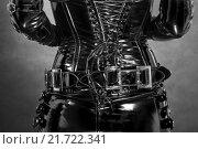 gothic reflective fetish latex corset, фото № 21722341, снято 22 февраля 2017 г. (c) PantherMedia / Фотобанк Лори