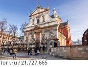 Купить «Roman Catholic Church of Saints Peter and Paul in Krakow, Poland», фото № 21727665, снято 3 января 2015 г. (c) Наталья Волкова / Фотобанк Лори