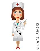 Купить «Женщина-врач, рисунок», иллюстрация № 21736393 (c) Neta / Фотобанк Лори