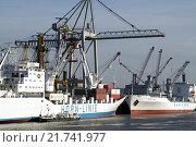 Купить «Hamburg, cargo freighter unloading», фото № 21741977, снято 23 января 2006 г. (c) Caro Photoagency / Фотобанк Лори