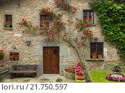 Купить «picturesque houses in mountains village. Rupit i Pruit», фото № 21750597, снято 22 июля 2019 г. (c) Яков Филимонов / Фотобанк Лори