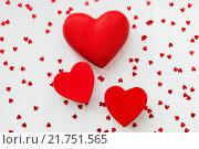 Сердца на белом фоне. Стоковое фото, фотограф Евгения Воробьева / Фотобанк Лори