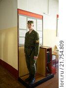 Купить «Дневальный по роте на входе в солдатскую казарму», фото № 21754809, снято 24 апреля 2014 г. (c) Free Wind / Фотобанк Лори