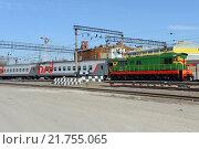 Купить «Железнодорожная станция Москва-Пассажирская-Павелецкая», фото № 21755065, снято 8 апреля 2014 г. (c) Free Wind / Фотобанк Лори