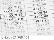Купить «График платежей кредитного договора крупным планом», эксклюзивное фото № 21760461, снято 8 февраля 2016 г. (c) Игорь Низов / Фотобанк Лори