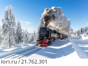 Купить «The Brocken railway, Harz National Park, Saxony-Anhalt, Germany», фото № 21762301, снято 18 января 2016 г. (c) age Fotostock / Фотобанк Лори
