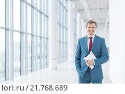 Купить «Smiling businessman», фото № 21768689, снято 4 сентября 2015 г. (c) Raev Denis / Фотобанк Лори