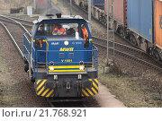 Купить «Hamburg, Germany, shunting Mittelweserbahn MWB yard», фото № 21768921, снято 1 февраля 2011 г. (c) Caro Photoagency / Фотобанк Лори
