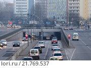 Berlin, Germany, rush-hour traffic on the arterial road in Alt-Friedrichsfelde (2011 год). Редакционное фото, агентство Caro Photoagency / Фотобанк Лори