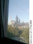 Купить «Duisburg, Germany, window views of the blast furnace 8 of ThyssenKrupp Steel AG», фото № 21774089, снято 15 октября 2009 г. (c) Caro Photoagency / Фотобанк Лори