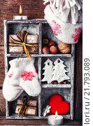 Купить «Winter decoration with gifts», фото № 21793089, снято 10 декабря 2019 г. (c) PantherMedia / Фотобанк Лори