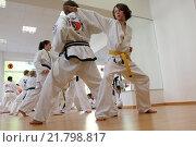 Berlin, Germany, at a young Taekwondo course (2012 год). Редакционное фото, агентство Caro Photoagency / Фотобанк Лори