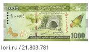 Банкнота 1000 шри-ланкийских рупий. Стоковое фото, фотограф Некрасов Андрей / Фотобанк Лори