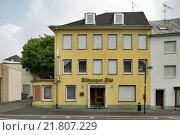 Купить «Bitburg, Germany, hotel and neon signage, Bitburger Pils», фото № 21807229, снято 10 августа 2009 г. (c) Caro Photoagency / Фотобанк Лори