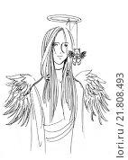 Купить «Ангел», иллюстрация № 21808493 (c) Анастасия Сердюкова / Фотобанк Лори