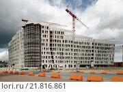 Hamburg, Germany, structural work on the Ueberseequartier in HafenCity (2009 год). Редакционное фото, агентство Caro Photoagency / Фотобанк Лори